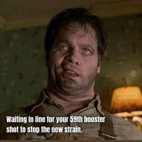 Waiting in line for your next booster to stop the newest strain5 (2)